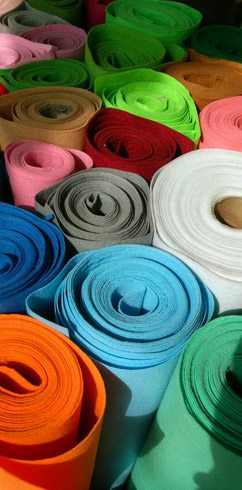 Coloured Felt Rolls