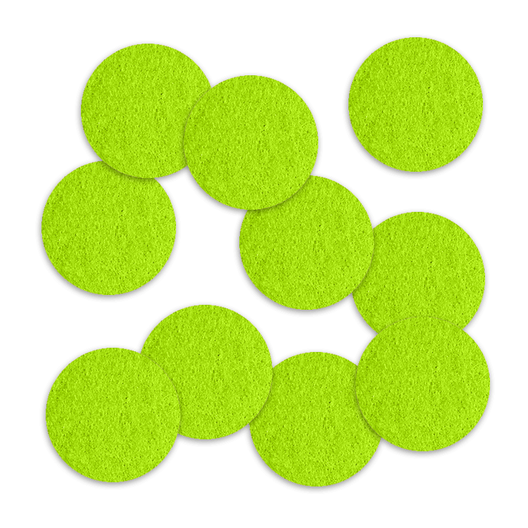 25mm Felt Circles 10 Pack